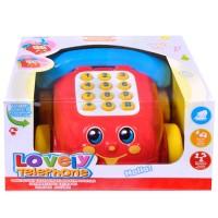Telefon educativ pentru copii cu sunet si chei, multicolor