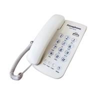 Telefon fix Panaphone KXT-3014, LED, functia ringer, Alb