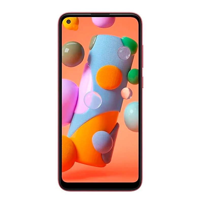 Telefon mobil Samsung Galaxy A11, ecran 6.4 inch, 4G, Dual Sim, 8 MP, 32 GB, 2 GB RAM, 4000 mAh, Red