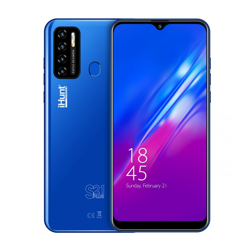 Telefon mobil Smart iHunt S21 Plus ApeX, Android 10, ecran IPS 6.3 inch, 16 GB, 2 GB RAM, 13 MP, 4000 mAh, Dual Sim, Blue 2021 shopu.ro