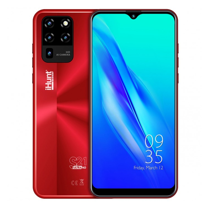 Telefon mobil Smart iHunt S21 Ultra ApeX, Android 10, 4 GB, ecran IPS 6.3 inch, 16 GB, 2 GB RAM, 13 MP, 4000 mAh, Dual Sim, Red 2021 shopu.ro