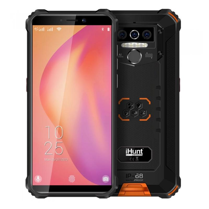 Telefon mobil Smart iHunt Titan P8000 Pro, Android 10, 4G LTE, ecran IPS 5.5 inch, Full Angle, 32 GB, 4 GB RAM, 13 MP, 8000 mAh, Dual Sim, Black/Yellow 2021 shopu.ro