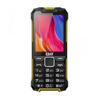 Telefon mobil iHunt i1 3G 2021, ecran TFT 2.8 inch, 1450 mAh, 2 MP, Radio FM, Bluetooth, lanterna, 3G, Dual Sim, Negru/Galben