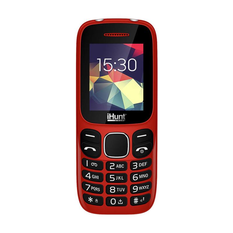 Telefon mobil iHunt i4 2G 2021, ecran TFT 1.8 inch, 800 mAh, Radio FM, Bluetooth, lanterna, Dual Sim, Rosu 2021 shopu.ro