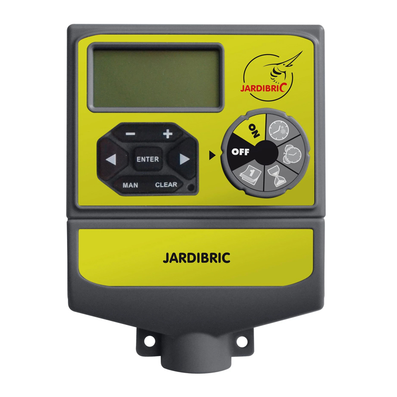 Temporizator Jardibric, 2 programe, 1040 l/h, 8 bar, 24 V, 1 x AA, 1 - 6 surse shopu.ro