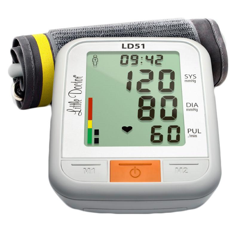 Tensiometru electronic de brat Little Doctor LD 51, afisaj XXL, detector aritmie, indicator WHO 2021 shopu.ro