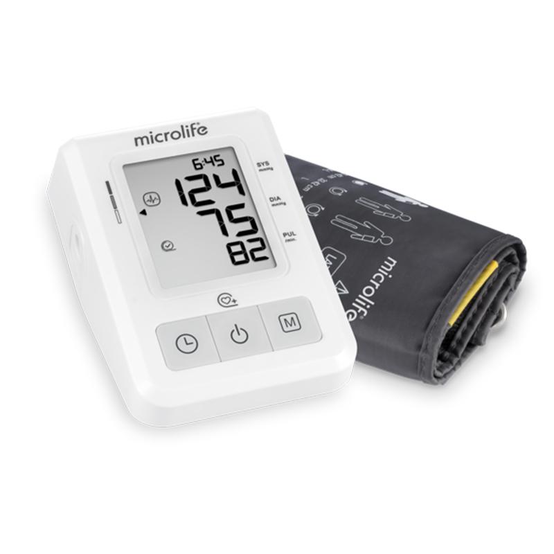 Tensiometru electronic de brat Microlife, 30 memorii, tehnologie PAD, 4 x baterii, Gentle+, validat clinic BHS, adaptor inclus 2021 shopu.ro