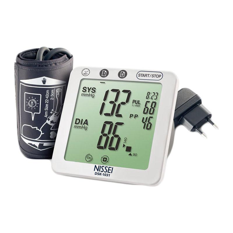 Tensiometru electronic de brat Nissei DSK-1031, memorare 60 seturi, LCD, detectie aritmie si body motion 2021 shopu.ro
