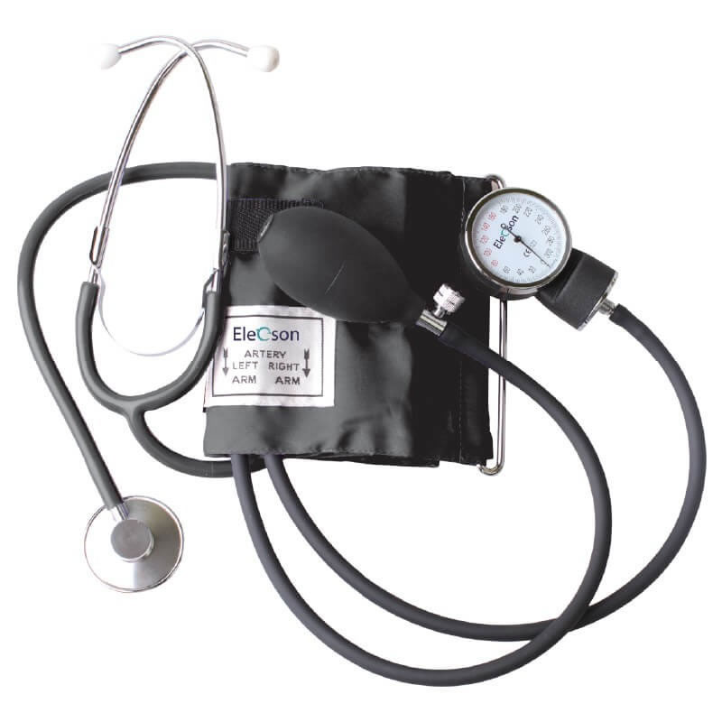 Tensiometru mecanic Elecson HS50A, stetoscop inclus 2021 shopu.ro
