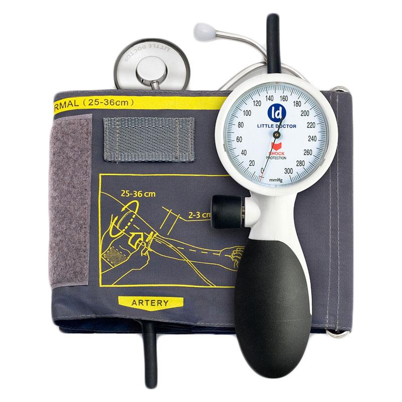 Tensiometru mecanic de brat Little Doctor LD 91, profesional, rezistent la socuri, stetoscop inclus 2021 shopu.ro