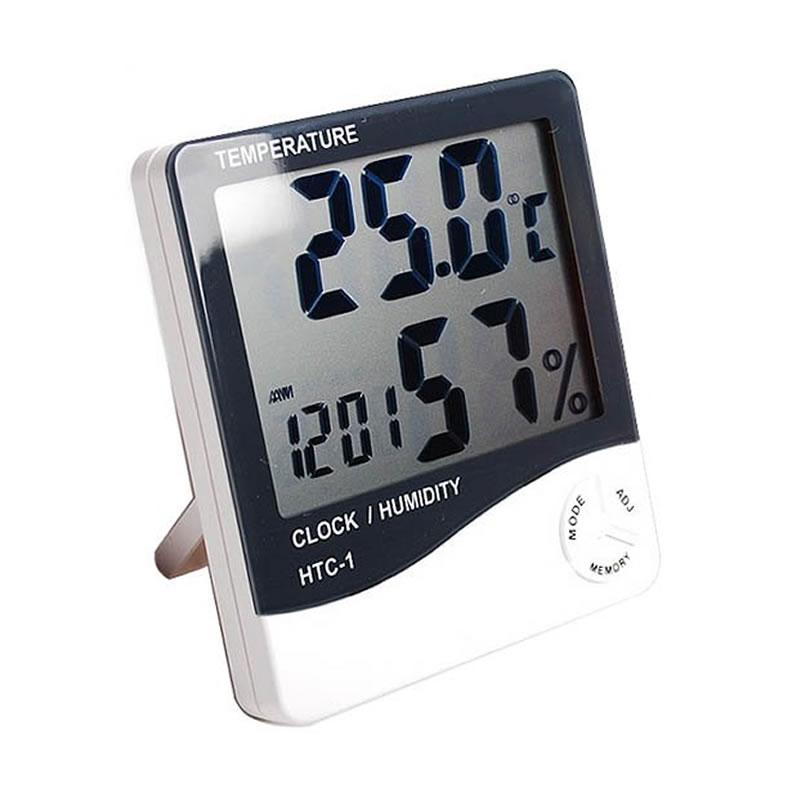 Termometru cu afisarea temperaturii si a umiditatii HTC-1, functie alarma