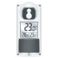 Termometru solar Bresser, ecran LCD, afisare temperatura interior/exterior