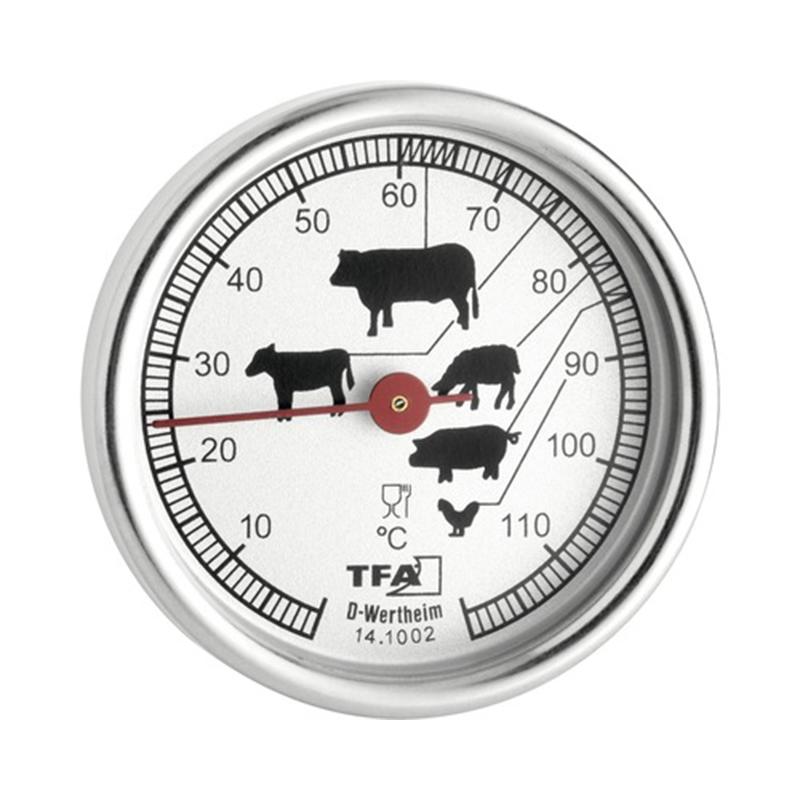 Termometru pentru mancare, 51 mm, inox, Argintiu 2021 shopu.ro