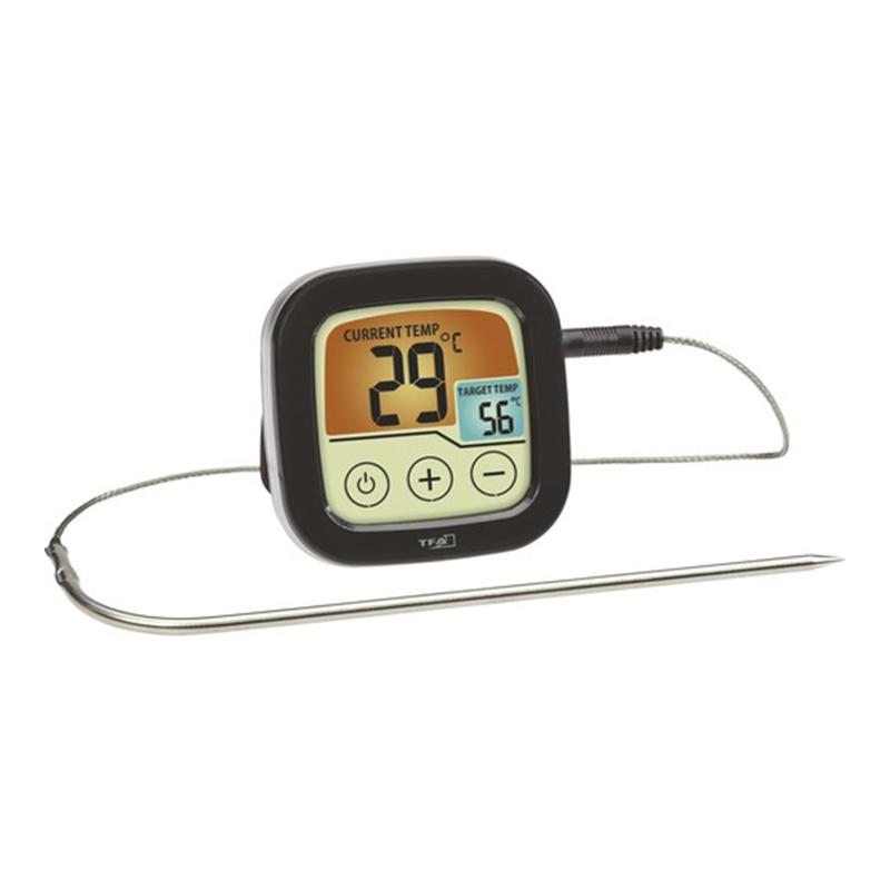 Termometru pentru mancare, 72 x 72 x 25 cm, plastic/metal, functie alarma, Negru 2021 shopu.ro