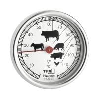 Termometru pentru mancare, 51 mm, metal, Argintiu