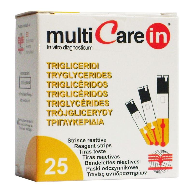 Teste trigliceride pentru aparatul Multicare-IN, 25 teste/cutie 2021 shopu.ro
