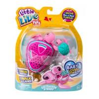 Testoasa electronica cu pui Little Live Pets, plastic, 5 ani+, model melon drops