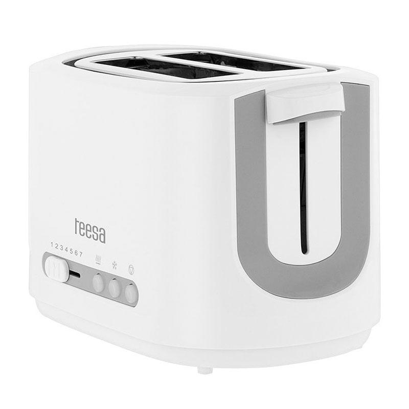 Toaster Teesa, capacitate 2 felii, picioare anti-alunecare, 850 W 2021 shopu.ro