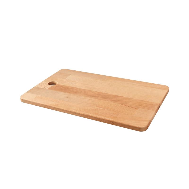 Tocator lemn masiv de fag, 45 x 28 cm, portocaliu 2021 shopu.ro