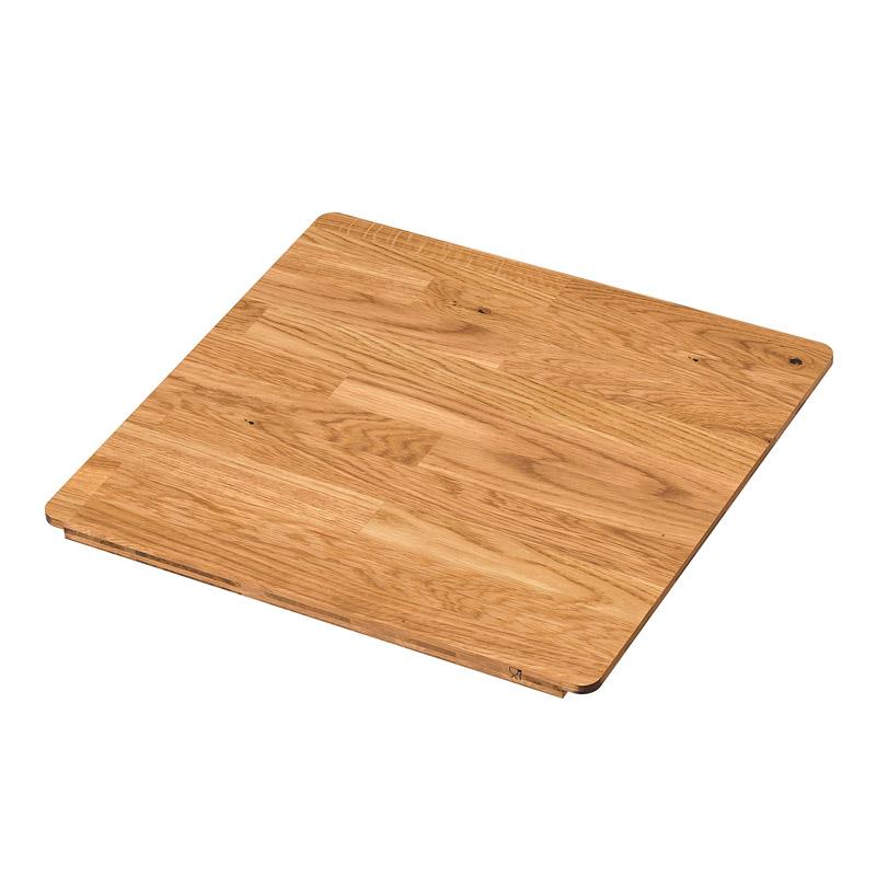 Tocator lemn masiv de stejar, 44 x 42 cm, portocaliu 2021 shopu.ro