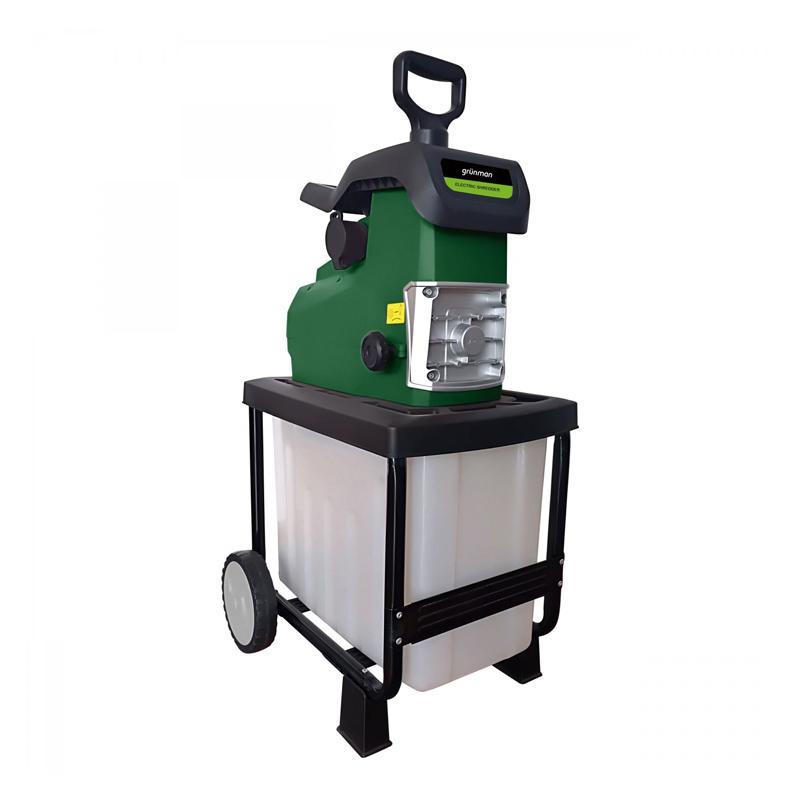 Tocator pentru resturi vegetale Grunman, 2800 W, colectare 50 l, 46 rpm