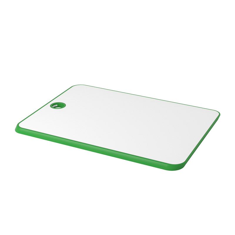 Tocator plastic, 2 fete, 34 x 24 cm, verde/alb 2021 shopu.ro