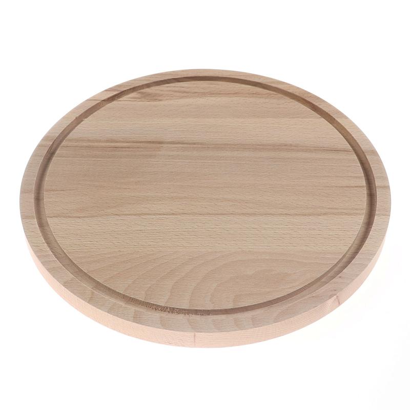 Tocator rotund, diametru 22 cm, lemn natur 2021 shopu.ro