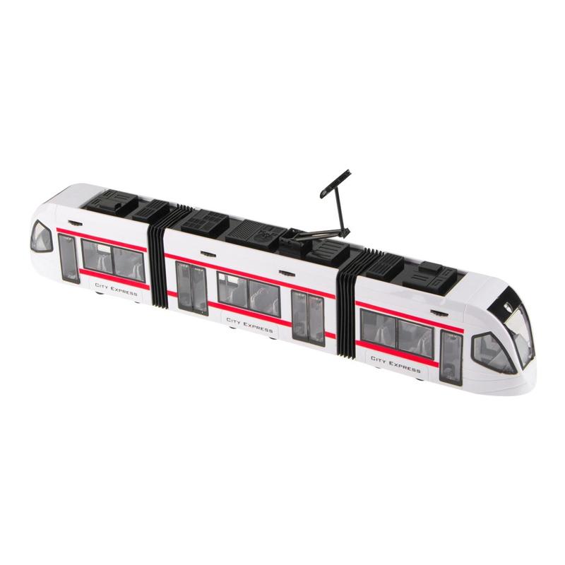 Tramvai de jucarie City Express, lumini si sunet, 3 ani+ 2021 shopu.ro