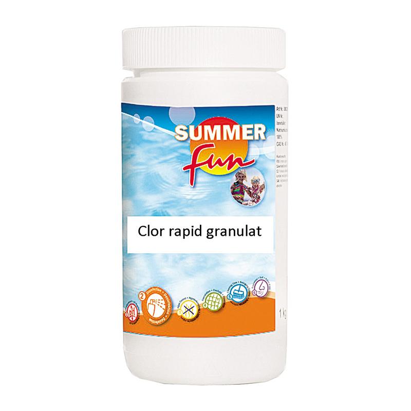 Tratament granulat pentru piscina Summer Fun, 1 kg, clor rapid, PH-neutru 2021 shopu.ro