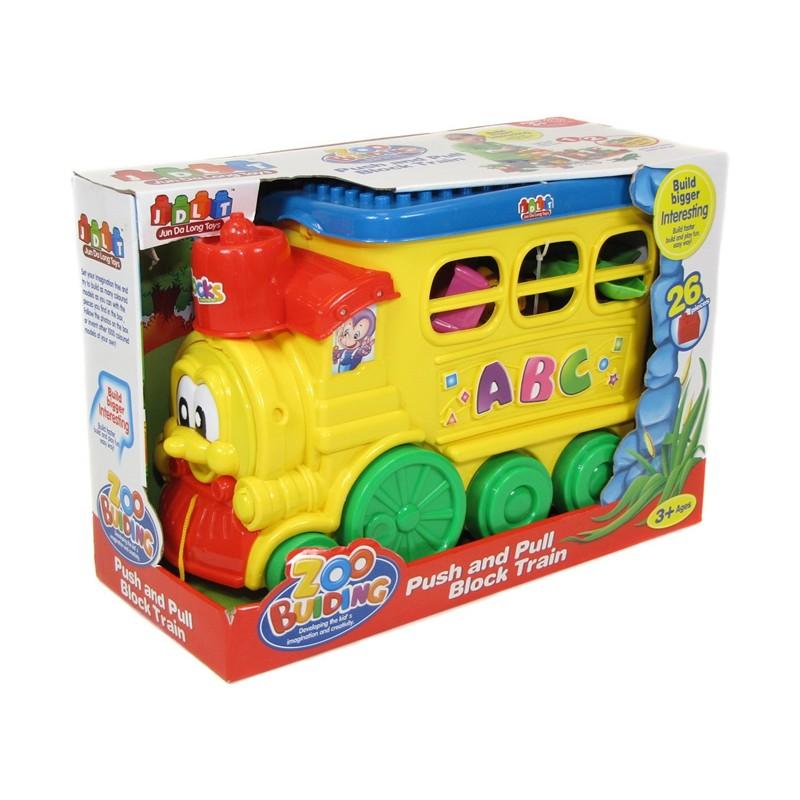 Trenulet cuburi, 46 piese, Multicolor 2021 shopu.ro