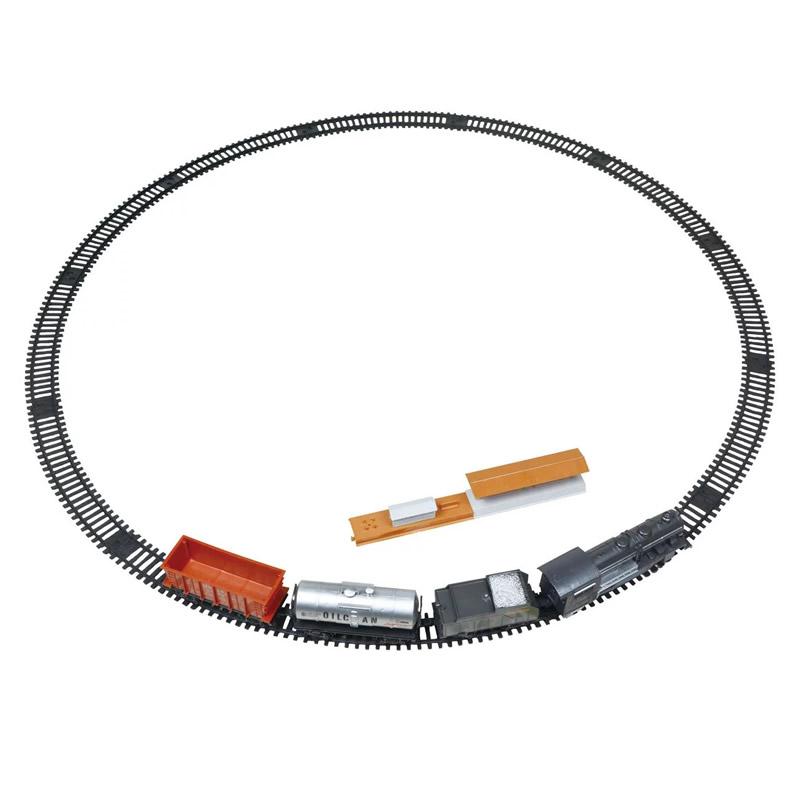 Trenulet electric Super Track, lumini si sunete 2021 shopu.ro