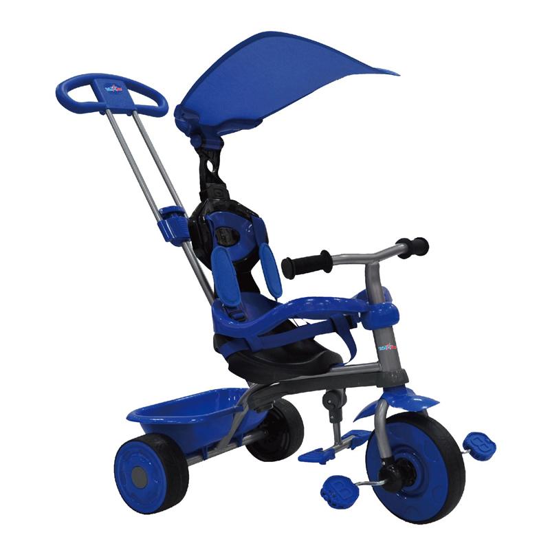 Tricicleta Baby Blue 3 in 1, maner detasabil, centura siguranta, maxim 25 kg, 10 luni+ 2021 shopu.ro