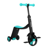 Tricicleta fara pedale Nadle 3 in 1 pentru copii Siegbert, maxim 40 kg, Albastru/Negru
