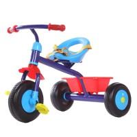 Tricicleta pentru baieti cu cos, maxim 25 kg, 1-5 ani