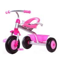 Tricicleta pentru fetite cu cos, maxim 25 kg, 1-5 ani