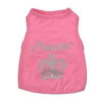 Tricou pentru catei, marimea M, imprimeu Princess