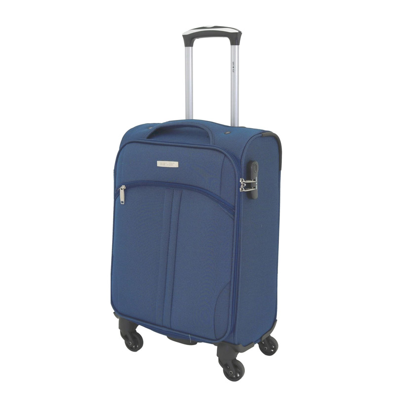 Troler Allure Lamonza, 55 x 36 x 22 cm, buzunar frontal cu fermoar, albastru 2021 shopu.ro