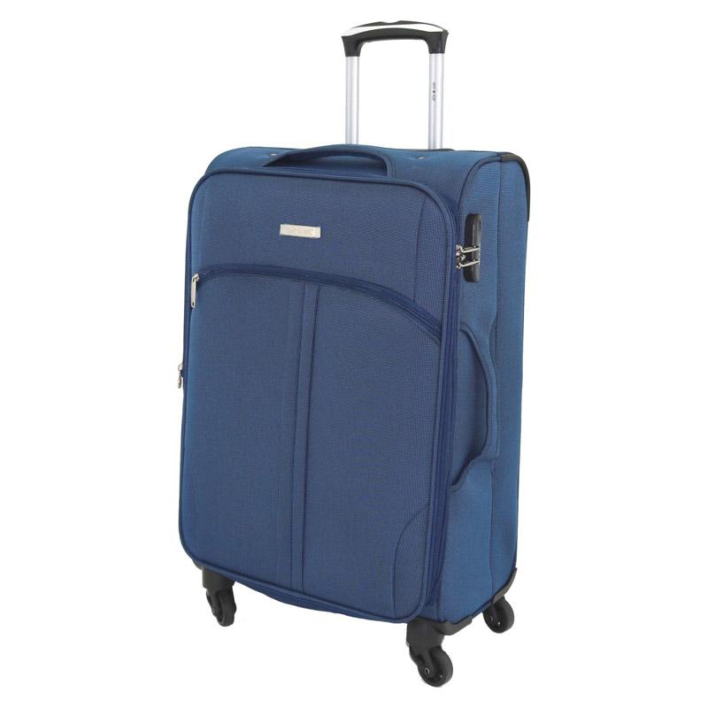 Troler Allure Lamonza, 67 x 41 x 26 cm, buzunar frontal, albastru 2021 shopu.ro
