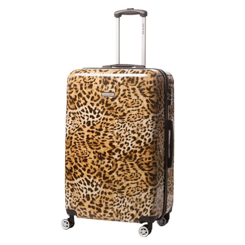 Troler Lamonza Leopard, 78 cm, 4 roti duble silentioase, policarbonat 2021 shopu.ro
