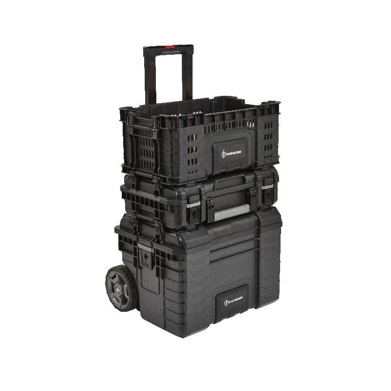 Troler pentru unelte Magnusson, 56 l, maxim 30 kg, capac inclus, Negru shopu.ro