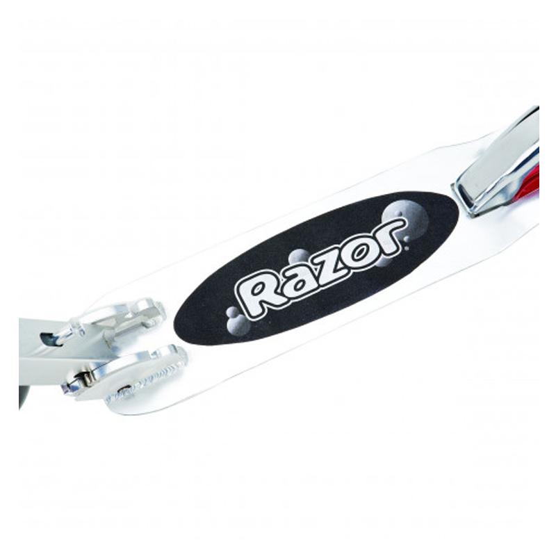 Trotineta adulti Razor A5 Lux, sistem de franare patentat, Argintiu/Rosu