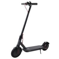 Trotineta electrica HR, greutate suportata 120 kg, autonomie 30 km, viteza maxima 25 km/h, Negru/Gri
