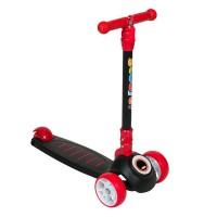 Trotineta pliabila pentru copii Maxi Scooter, 3 roti, lumini LED, inaltime reglabila, 3-12 ani