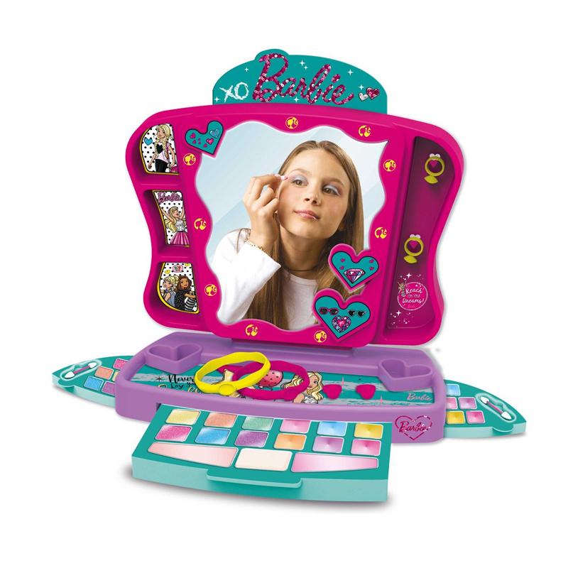 Trusa machiaj pentru fetite Barbie Princess, accesorii incluse, 3 ani+ 2021 shopu.ro
