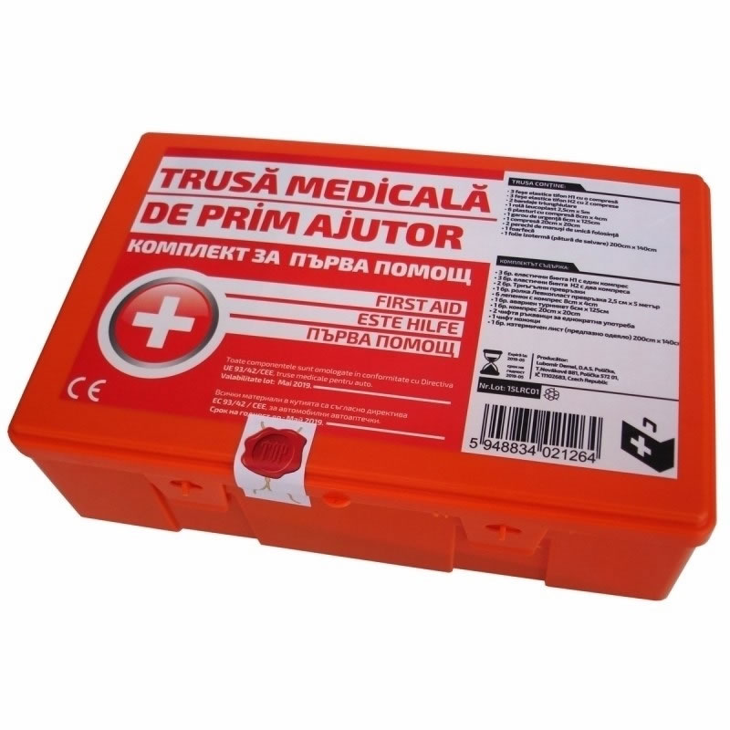 Trusa medicala de prim ajutor Ro Group, 21 piese 2021 shopu.ro