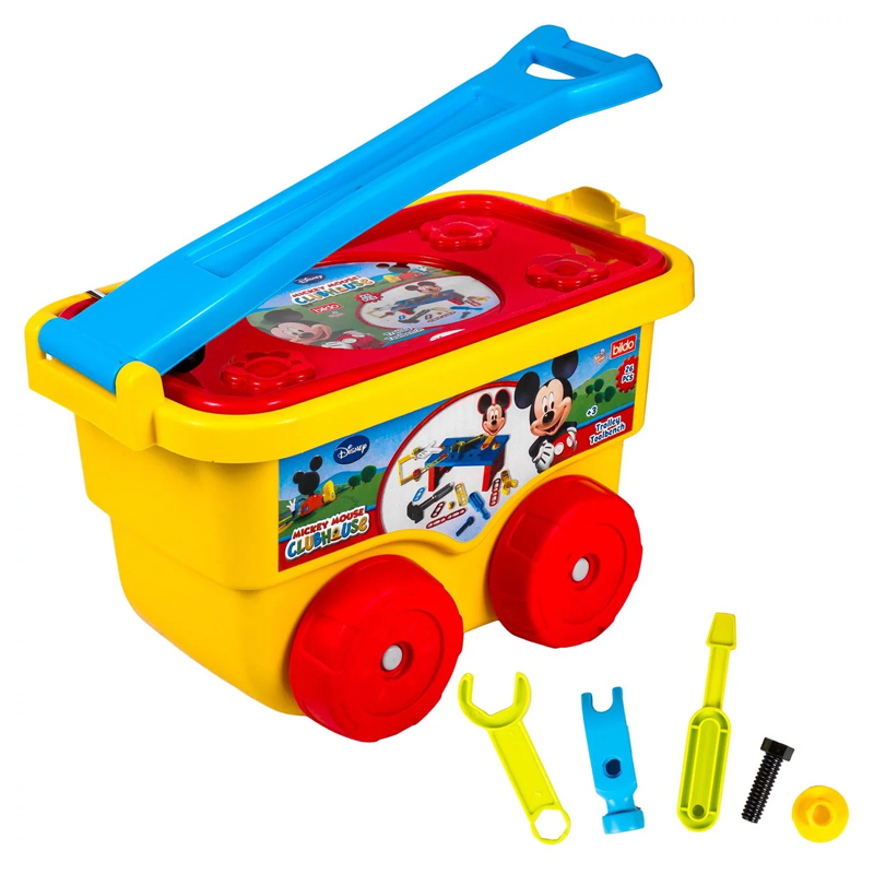 Trusa unele tip masinuta Trolley Toolbench Mickey, 26 piese, 3 ani+ 2021 shopu.ro