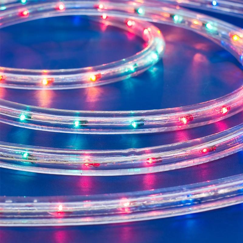 Tub luminos, 13 m x 13 mm, lumina multicolora