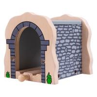 Tunel din lemn BigJigs, 10.5 x 10 x 10 cm, 3 ani+