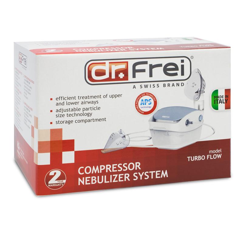 Aparat aerosoli Turbo Flow Dr. Frei, 12 ml, compact