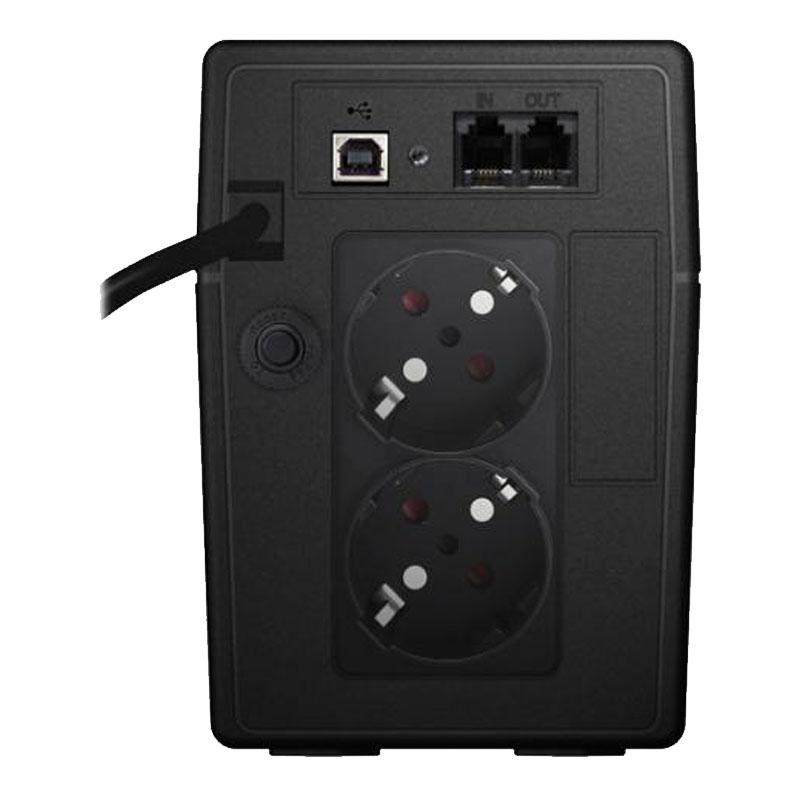 UPS line interactiv Powerwalker, 2 x Shuko, baterie 12 V / 9 Ah, 850 VA, 480 W shopu.ro